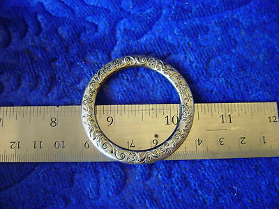 1 1/2 in cast antique silver fancy ring leather craft ivy steampunk pirate faire