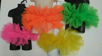 Tutu Organdy 3 Layer Neon Bright Colors Ballet Girls or Ladies NWOT dress up