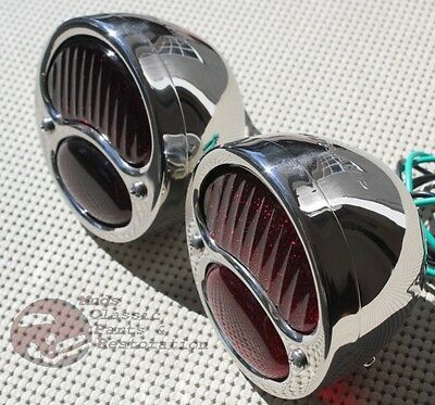 Ford Model A Stainless Steel Taillights Lamps Pair Brake Light Hot Rat Rod Truck