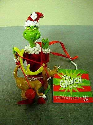 Dept 56 The Grinch Getting Max Ready Ornament Retired