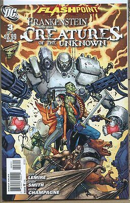Flashpoint Frankenstein and Creatures of Unknown 2011 series # 3 near mint comic