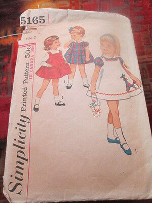 Simplicity Sewing Pattern 5165 one piece dress and jumper vintage 2