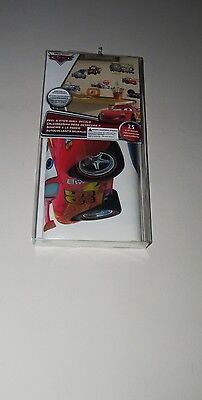 New Disney CARs 25 Peel & Stick Wall Decals - Repositionable, Reusuable    *z