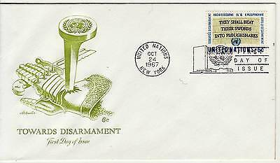 United Nations 6c Disarmament Campaign 1967 First Day Cover,Special PMK