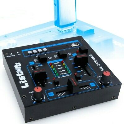 DJ Mischpult Party Musik Mixer USB/MP3 Crossfading Talkover Kanalfading 12 Volt