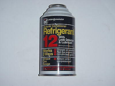 ID REFRIGERANT R-12 WITH LUBE, LEAK DETECTOR 14oz CAN    12 R-12  USA MADE!