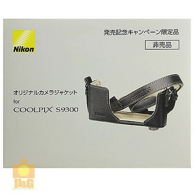 NEW BOXED OFFICIAL NIKON COOLPIX S9300 CAMERA CASE JACKET STRAP #1