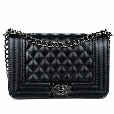 Classic Fashion Women's Quilted PU Leather Chain Purse Shoulder Bag