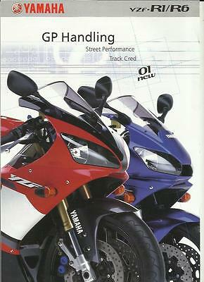 Yamaha Yzf-R1 And R6 Motorbike Sales Brochure 2001
