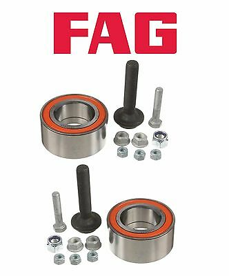 For Audi 100 200 A4 S4 S6 VW Passat Pair Set of Two Front Wheel Bearing Kits OEM