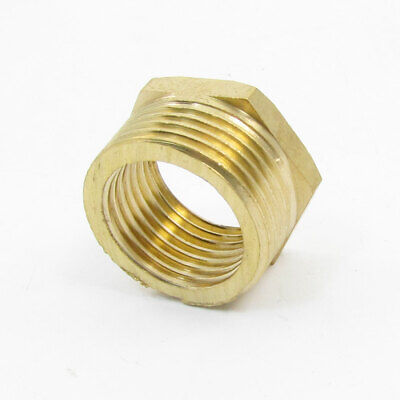 """3/4"""" PT Male to 1/2"""" PT Female Hex Threaded Bushing Piping Connector Adapter"""