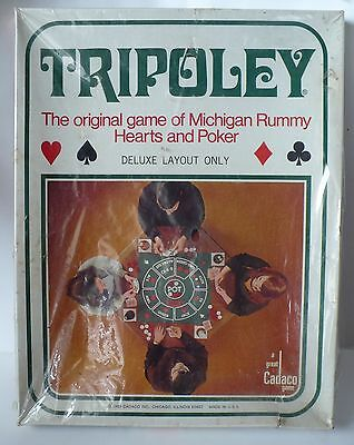 Vintage 1969 Cadaco Tripoley Deluxe Layout Only #111 New Sealed