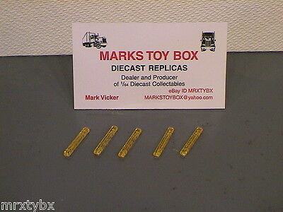 LED SMALL LIGHT BAR LOT OF 5 1/64 FITS: DCP HOT WHEELS MATCHBOX YELLOW COLOR