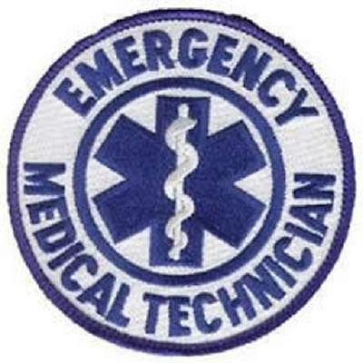 Round Emergency Medical Technician Patch EMT - Star of Life