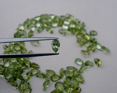 Peridot Pear Loose Gem 6x4mm