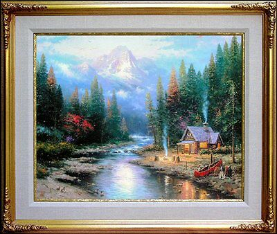Thomas Kinkade #3/20 ULTRA RARE 24x30 MASTER EDITION The End of a Perfect Day II