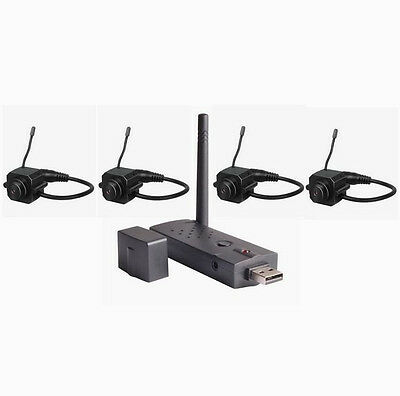 2.4GHz 4ch Color Mini Wireless Home Security Based USB DVR Receiver+4 Camera Kit