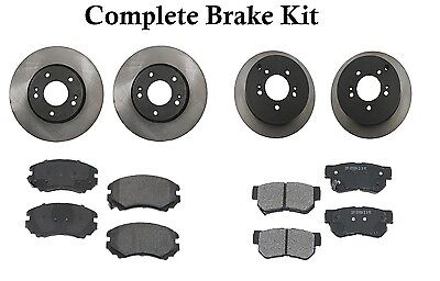 Black Slotted Brake Rotors /& Ceramic Brake Pads CBS.6112302 COMPLETE KIT