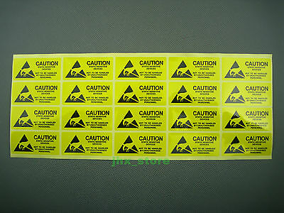 40 CAUTION Static Sensitive Devices Stickers Warning Adhesive Labels 25 x 55mm