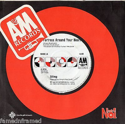 """★STING - FORTRESS AROUND YOUR HEART - 7"""" 45 VINYL RECORD - 1985★"""