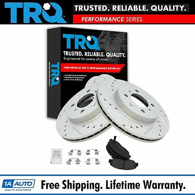 Rotor & Brake Pad Semi-Metallic Performance Drilled Slotted Front Kit for Honda