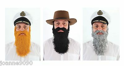 *Mens Adult Beard and Moustache Panto Gnome Dwarf Fancy Dress Costume Accessory*