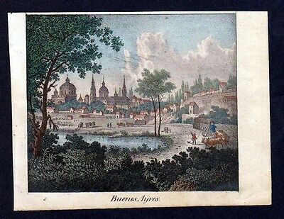 ca. 1830 - Buenos Aires Argentina Argentinien South America Lithographie Litho