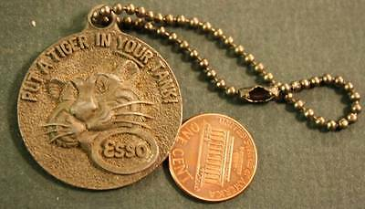 1960s Esso Oil & Gas Co.3-D Put a Tiger in Your Tank numbered keychain-VINTAGE!