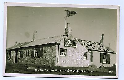 1945 First and Last House Englands Land's End RPPC Postcard