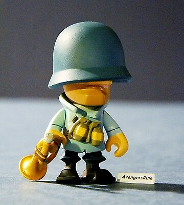 Team Fortress 2 Portable Mercs 3 Inch Collectible Figures Soldier Blue 1/12