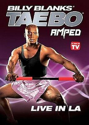 Billy Blanks TAE BO AMPED LIVE IN LA (DVD) L.A. taebo workout SEALED NEW