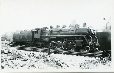 W738 RPPC 1950s? L&M LITCHFIELD & MADISON RAILROAD TRAIN ENGINE #160 illinois