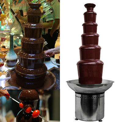 "32.3"" Commercial 6 Tiers Stainless Party Hotel Large 82cm Chocolate Fountain"