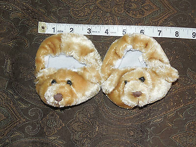 Bear Slippers For Bear From The Bear Factory CUTE NWOT Tan