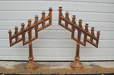 + Pair of Solid Bronze Antique Candelabra Candlesticks + + (#514) + chalice co.