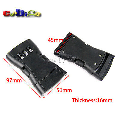 """1-49/64"""" Webbing Password Safety Detach Buckle for Travel Luggage Backpack"""