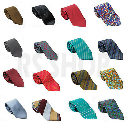 Mens Womens Silk Solid Plain Stripes Polka Tie Party Wedding School Occasional