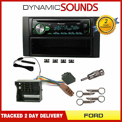 Pioneer DEH-4900DAB Digital Radio Car Stereo + Fitting Kit for Ford Fiesta 2005>