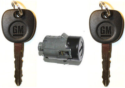 NEW GM OEM Single BLK Door Lock Cylinder W/2 OEM GM LOGO KEYS-706592 + 5928818