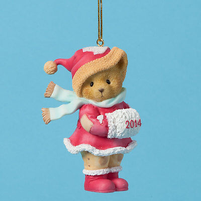 Cherished Teddies 2014 Dated Ornament You Bring Snuggly Warmth To The Coldest