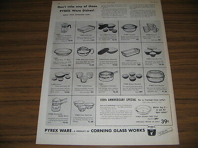 1951 Vintage Ad Pyrex Ware Dishes Corning Glass Works NY