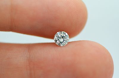 Natural Loose Diamond 0.40 Carat G VS1 Round EX Cut Certified Engagement Ring