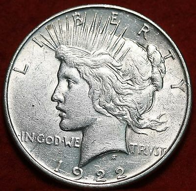 Circulated 1922 Philadelphia Mint Silver Peace Dollar Free Shipping
