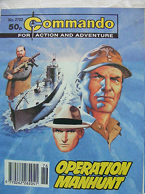 "Commando Comic War Stories In Pictures #  2702  ""operation Manhunt"""
