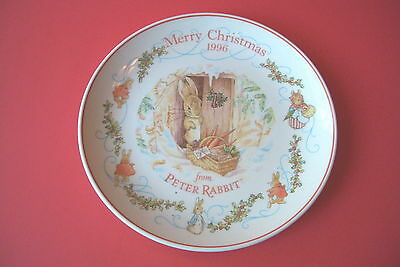 "WEDGWOOD PETER RABBIT 8 1/4"" CHRISTMAS PLATE 1996"