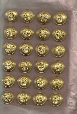LOT OF 24 VINTAGE(WWII) U.S. MARITIME SERVICE BUTTONS 22mm  ON ORIGINAL CARD