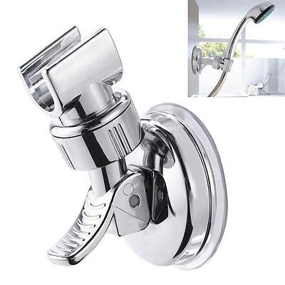 Shower Head Handset Holder Chrome Bathroom Wall Mount Adjustable Suction Bracket