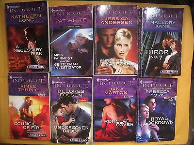 Lot of 8 Harlequin Intrigue Romantic Suspense Series Romance Paperback Books #4