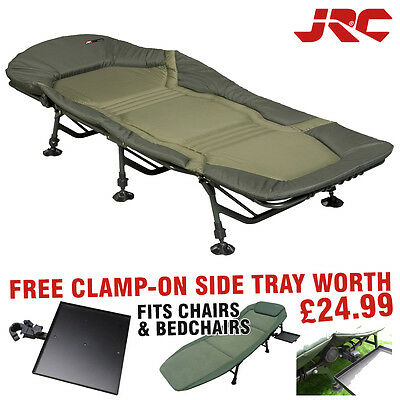 JRC Super Cocoon 3 Leg Bedchair + Free Clamp On Side Tray *Fishing Camping*