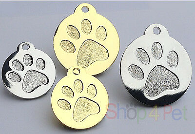 Dog Cat Tag Quality PET ID Tags Highly Polished Chrome or Gold ENGRAVING OPTION